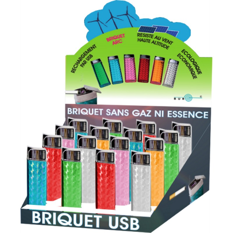 Presentoir mini briquet USB BUR